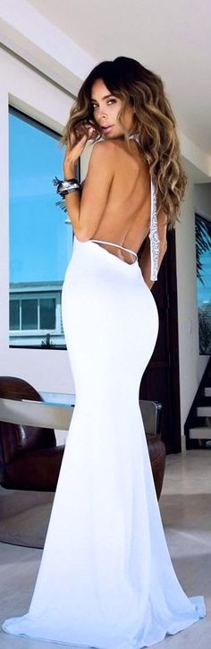sexy prom dress probably a different color though Elegant Dresses, Pretty Dresses, Sexy Dresses, Prom Dresses, Formal Dresses, Dress Prom, Wedding Dress, White Fashion, Beautiful Gowns
