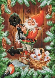 Looks like the elf has a basket of 3D Mascaras -- if you are wishing for one check out my website: https://www.youniqueproducts.com/Tinanord