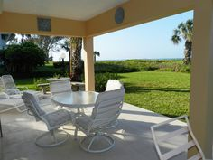 patio of longboat key vacation home