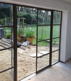 Crittal doors - I never knew they had a name, I just knew I liked them Crittal Windows, Garden Doors, Garden Room, Exterior, Aluminium French Doors, French Doors Exterior, House Extensions, Steel Doors And Windows, Crittall