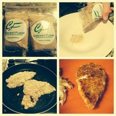 Here is another great cricket flour recipe one our customers sent us using our All-Purpose Baking Cricket Flour.  Alyssa had a favorite recipe from Blue Apron that she wanted to adapt using our cricket flour, and it turned out amazing!  If you want to see the original Blue Apron recipe, click here.  This Cricket Flour Parmesan Breaded Chicken is packed with protein and has a great flavor.  Get your own cricket flour at www.cricketflour.com/buy