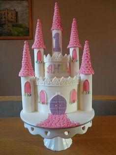 Princesses castle cake
