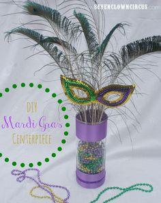 mardi gras centerpiece ideas using candles | DIY Mardi Gras Centerpiece