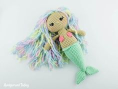 OFree Aurora Mermaid crochet pattern by Amigurumi Today