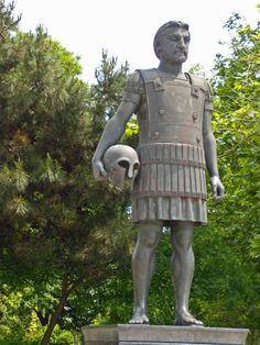 King Philip II of Macedonia, father of Alexander. Greek Soldier, Alexandre Le Grand, Macedonia Greece, World C, Alexander The Great, Historical Art, Thessaloniki, Greeks, War Machine