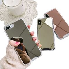 Mangel an Luxus Spiegel Phone Cases für iPhone 11 Max XR X XS Max 7 6 8 Plus . - Cellphones and Telecommunications - Celulares e Acessórios Smartphone Iphone, Diy Iphone Case, Iphone Phone Cases, Iphone Cases For Girls, Unlock Iphone, Cell Phone Covers, Iphone 7 Plus, Cute Cases, Cute Phone Cases
