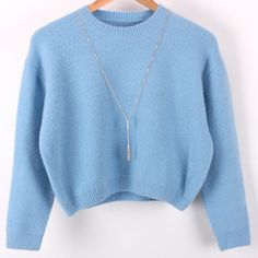 Free shipping 2015   Women's autumn and winter long-sleeved round neck short paragraph wool blend knit sweater women's sweaters