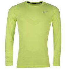 Nike Dri Fit Knitted Long Sleeve T Shirt Mens
