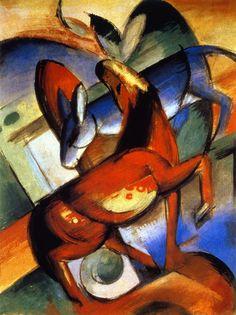 The Athenaeum - Horse and Donkey (Franz Marc - )
