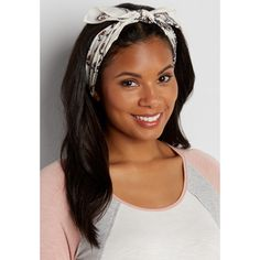 maurices Bandana Headwrap In Floral Print, Women's, (2.225 HUF) ❤ liked on Polyvore featuring accessories, hair accessories, bandana headband, cotton bandanas, floral headwrap, cotton headbands and maurices