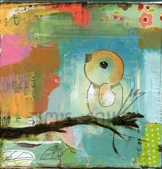 Treetops mixed media art print by Mindy Lacefield by timssally, $18.00