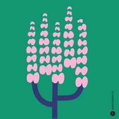 the Jessica Nielsen illustration Flower Illustration Pattern, Plant Illustration, Floral Illustrations, Illustrations Posters, Illustration Design Graphique, Art Drawings For Kids, Vintage Design, Picture Design, Surface Pattern Design