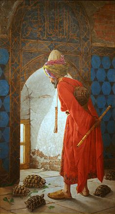 Osman Hamdi Bey (1842 - 1910), The Tortoise Trainer, 1906, Pera Museum, Istanbul