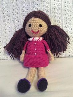 handmade crochet doll Crochet Toys, Teddy Bear, Dolls, Hats, Handmade, Ebay, Baby Dolls, Hand Made, Hat