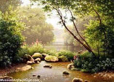 Famous Landscape Paintings @ 8 -> Famous Landscape Paintings 004 By Rene Charles Edmond His US$ 199.09