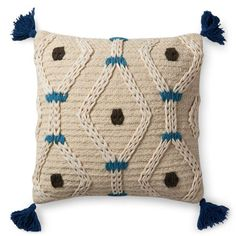 Longing for textured, patternful and nuetral accented pillows? The Souk Pillow is the perfect jungalicious mix of these elements. Designed by Justina Blakeney f