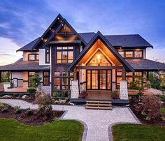 70 Most Popular Dream House Exterior Design Ideas - Traumhaus Dream House Exterior, Dream House Plans, Dream Home Design, My Dream Home, Style At Home, Design Case, House Goals, Home Fashion, Exterior Design