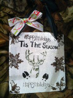 Home decor, Christmas sign, Hunting Sign, Holiday decor, Tis the season
