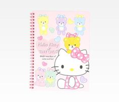 Hello Kitty Spiral Notebook: Heart Bubbles