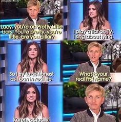 Ellen's Face in the last   One ;D ♡