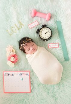 Newborn Girl birth announcement. Newborn Photography. Photo By Chelsey Crouse Photography