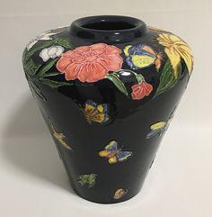 Sandra and Maria Vumbaca, Ceramic artists. Rustic Ceramics, Australian Art, Ceramic Artists, Earthenware, Clay Art, Ceramic Pottery, Glaze, Vibrant Colors, Butterflies