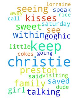 My Geandson -   	Please pray Christie is keeping Preston away from see or visiting us because I said he was going to be a diabetic. �He is 6 he eat about 10 kisses 4 Rice Krispies and2 cokes within an hour . �She has stopped us seeing him now that she don't need me keep him. �I have kept him all his life while they worked . �My husband is very ill and he is grieving and I know that with prayer God can turn this around. �Christie is not saved and s little in Goghic dude but a sweet girl she…