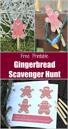 Kids will LOVE this easy Christmas Game - a FREE printable Gingerbread Scavenger Hunt that can be played indoors or outside! Christmas Games To Play, Printable Christmas Games, Christmas Books, Christmas Crafts For Kids, Simple Christmas, Emoji Christmas, Christmas Birthday, 30th Birthday, Holiday Crafts