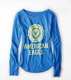 AEO Signature Graphic Raglan T-Shirt - Buy One Get One 50% Off