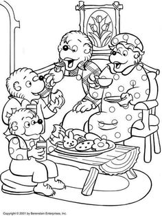 berenstain bears coloring sheets coloring pages - Berenstain Bears Coloring Book