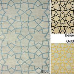 nuLOOM Handmade Lattice Moroccan Trellis Wool Rug (7'6 x 9'6) | Overstock™ Shopping - Great Deals on Nuloom 7x9 - 10x14 Rugs