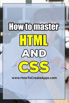 What you need to know to learn HTML and CSS. An introduction for beginners. The article will cover the basics and you will know what to focus on to truly master HTML and CSS. Web Design Websites, Web Design Quotes, Computer Programming, Computer Science, Learn Programming, Programming Languages, Html For Beginners, How To Create Apps, Learn Html And Css