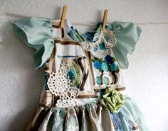 Shabby Chic Toddler Dress 2T Mint Green Children's by MyFairMaiden, $58.00