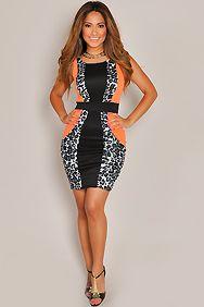Sexy One Shoulder Leopard Nightclub Mini Dress | Club Dresses ...