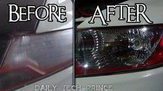How To Restore Faded Headlights DIY Honda Headlight Repair, Machine Learning, Drip Coffee Maker, Restore, Lighting Design, Honda, Restoration, Diy, Light Design