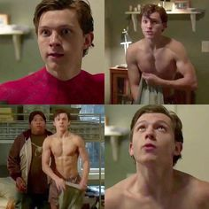 Oooh look at those abs and arms ooooooh! ugh he's hot. yeah marvel he's definitely like 16 Marvel Universe, Sean Leonard, Tom Holland Peter Parker, Tom Holland Abs, Toms Shoes Outlet, Tommy Boy, Men's Toms, Tony Stark, To My Future Husband