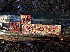 Horgolt ékszerszett  Mirtusz : Őszi-erdő ékszerek Firewood, Texture, Crafts, Surface Finish, Woodburning, Manualidades, Handmade Crafts, Craft, Arts And Crafts