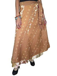 Womens Long Wrap Skirt Brown Silk Sari Reversible Magic Wrap Around Skirt Mogul Interior http://www.amazon.com/dp/B00OUVE7OK/ref=cm_sw_r_pi_dp_XhJsub1527NVJ