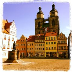 Lutherstadt Wittenberg - historic town where Luther put his famous thesis on the door of the church of Wittenberg. Very very very wonderful Luther museum in town! Spend all day there!