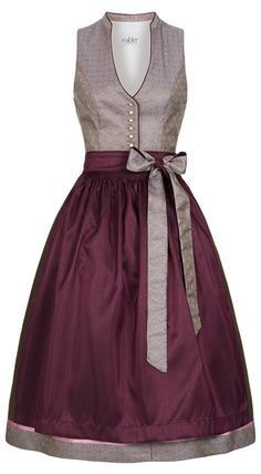 Love this dirndl style, especially the updated neckline. Need some dresses with similar styling for every day! Dirndl midi Kiara in Altrosa von Nübler - Designed in Bavaria Tee Dress, Belted Dress, Bodycon Dress, Elegant Dresses, Beautiful Dresses, Casual Dresses, Dress Outfits, Fashion Outfits, African Fashion Dresses