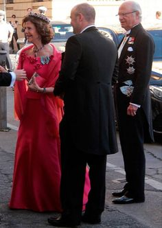 Queen Silvia, King Carl-Gustaf and Victoria attended Astrid Bernadotte's wedding in Venice, July 8, 2017