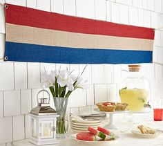 Patriotic Stripe Garland