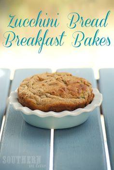 Healthy Gluten Free Zucchini Bread Breakfast Bakes - Flaxseed, Banana, Low Fat