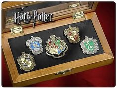 This truly is a must-have for every Harry Potter collector. The four house crests are packaged in a special, wooden collector's box, with a Hogwarts School crest included to round up the set.