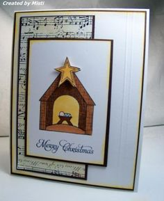 Handmade Christmas card by Misti using the Weary World stamp set from Verve.  #vervestamps