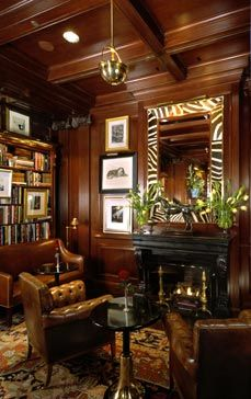 Another angle of the lounge area in the Ralph Lauren restaurant (Chicago)