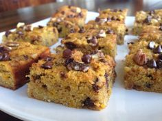 Grain-free Chocolate Chip Squash Blondies #justeatrealfood #therealfoodrds