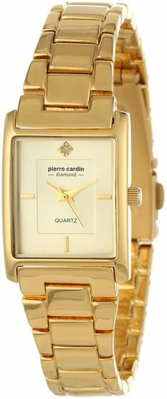 Pierre Cardin Women's Classic Analog Diamond Accents Watch