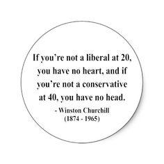 Winston Churchill Quote 15a Sticker