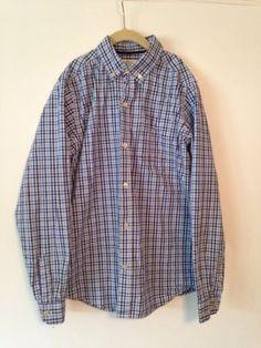 Boys Blue Plaid Dress Shirt Childrens Place Size 14